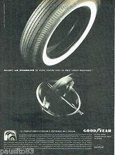 PUBLICITE ADVERTISING 056  1961  les pneus 3T Goodyear