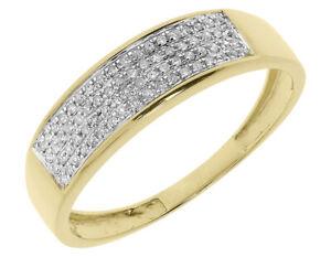 0.25 Ct Pave Set Mens 6 MM Diamond Band