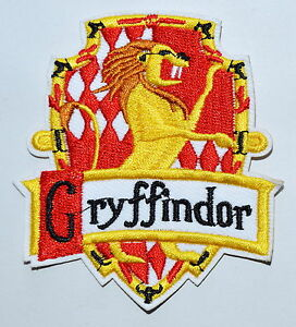 100x Harry House GRYFFINDOR Crest Badge Potter Iron on Patch