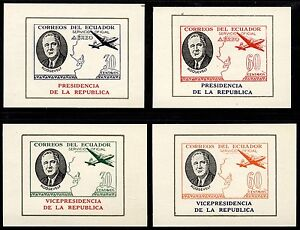 Ecuador Sanabria 277/282 FDR 4 Imperforated Mint NH