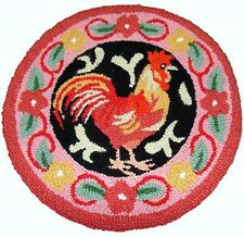 Wool Chair Pads Rooster
