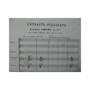 Details About Taylor Francis Entracte Pizzicato Orchestre Ca1880 Partition Sheet Music Score
