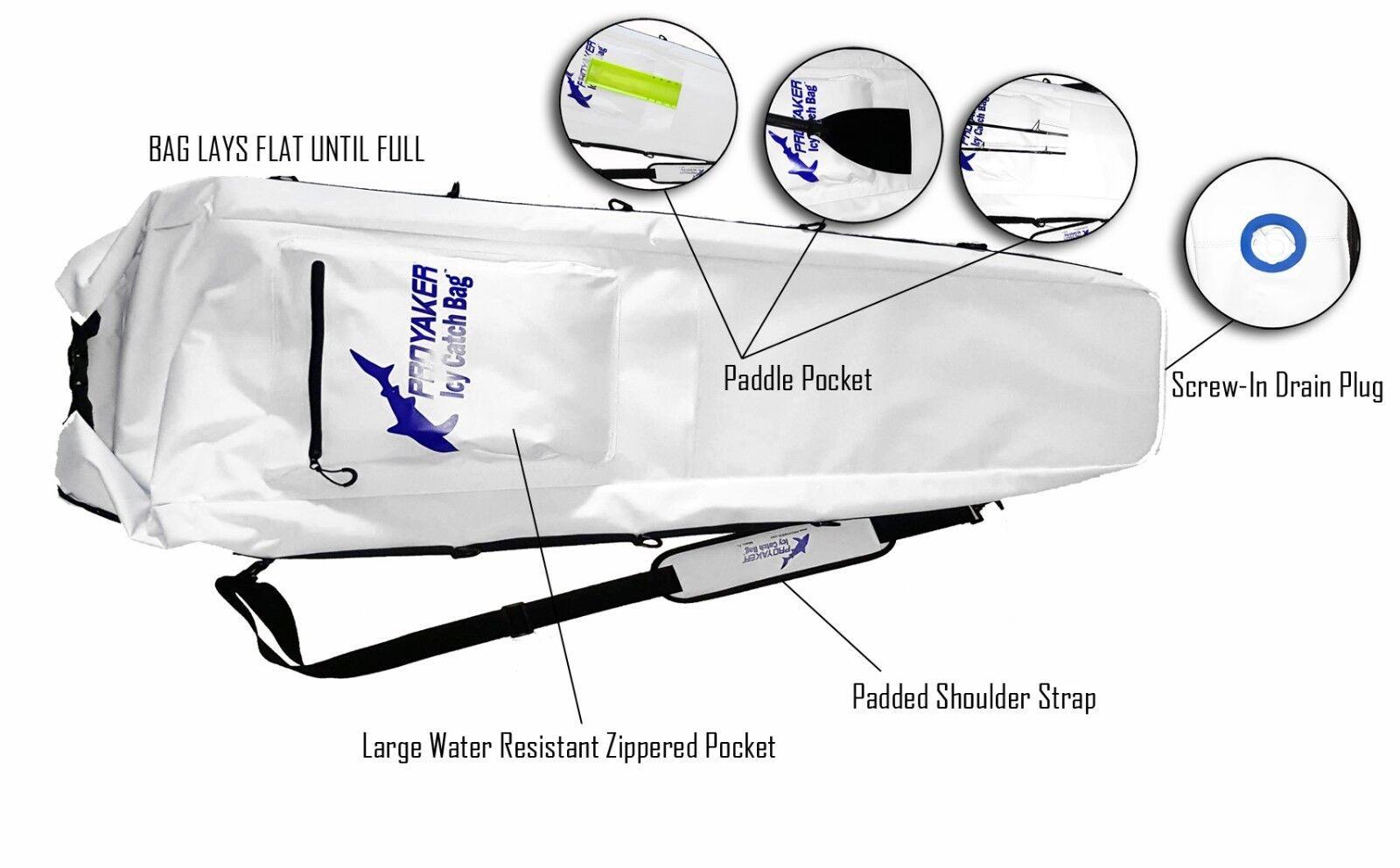 PROYAKER ICY Catch Bag 48  Closed Cell Foam Insulated Kayak Fish Bag Cooler
