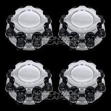4 CHEVY GMC 8 Lug CHROME Wheel Center Hub Caps Bolt Covers for Alloy & Steel Rim