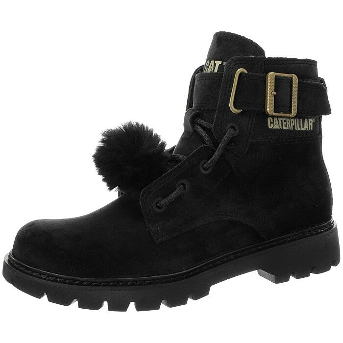 Caterpillar Conversion Velvet black gold women's casual ankle boots bootees NEW