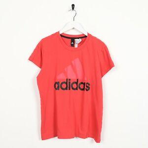 Vintage-Women-039-s-ADIDAS-Big-Logo-T-Shirt-Tee-Pink-Large-L