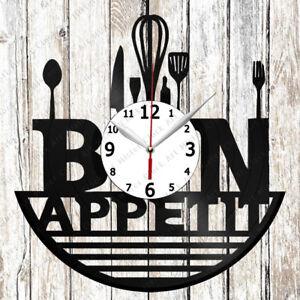Cuisine Vinyle Horloge Murale En Vinyle Record Cadeau Original