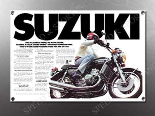 750 IMAGE BANNER NOS IMAGE REPRODUCTION VINTAGE SUZUKI GT