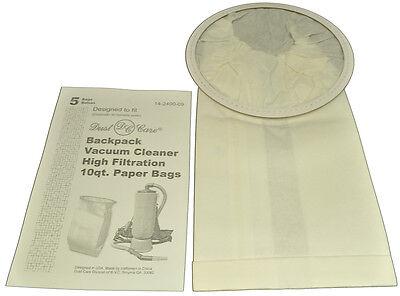 Dust Care Back Pack 10Qt Vacuum Cleaner Bags DC-1412