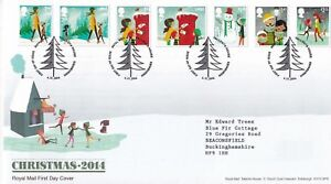 First-Day-Cover-GB-2014-CHRISTMAS-Tallents-House-Typed-Address-Royal-Mail