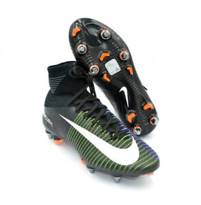 save off 48b06 f9f07 Nike Mercurial Superfly V SG-PRO Black Green Soccer Cleats ...
