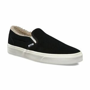 cca3cb88caec13 Vans Classic Slip On Suede Fleece Black Men s 9 Women s 10.5 Skate ...