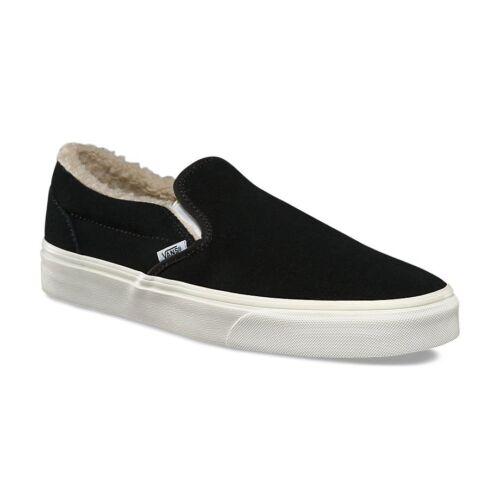 Nouveau 884805348587 5 On Slip skate Fleece Suede de pour 10 9 Classic Vans Noir Hommes Chaussures femmes azqZx