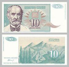 Jugoslawien / Yugoslavia 10 Dinara 1994 p138a unz.