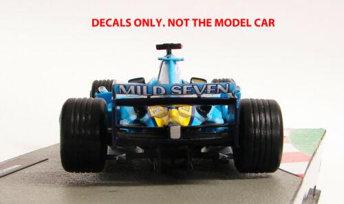 DECALS for Jarno Trulli RENAULT R24 2004 MILD SEVEN  1:43 Formula 1 Collection