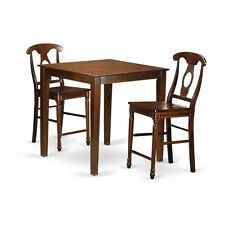 East West Furniture 3 Pc Counter Height Set-Pub Table And 2 Kitchen Bar Stool