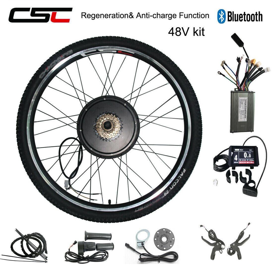 Electric Rear rueda Kit Motor 250W 350W 500W 1000W 1500W 48V Regeneration Ebike