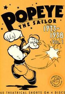 POPEYE-THE-SAILOR-1933-1938-VOL-1-4-DVD-EDIZIONE-STATI-UNITI-USED-VERY