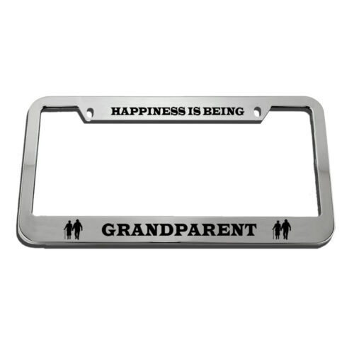 Happiness Is Being Grandparent License Plate Frame Tag Holder