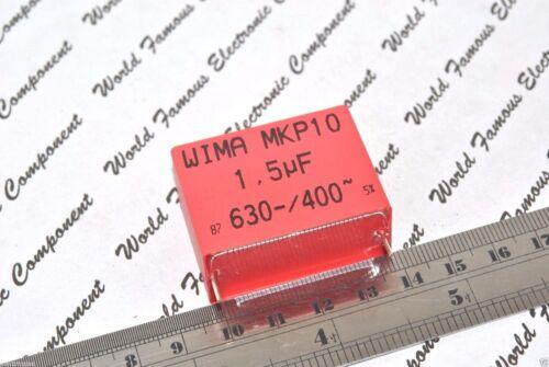 1,5µF POLYPROPYLENE 630V 5/% pitch:37.5mm Capacitor 1pcs WIMA MKP10 1.5uF