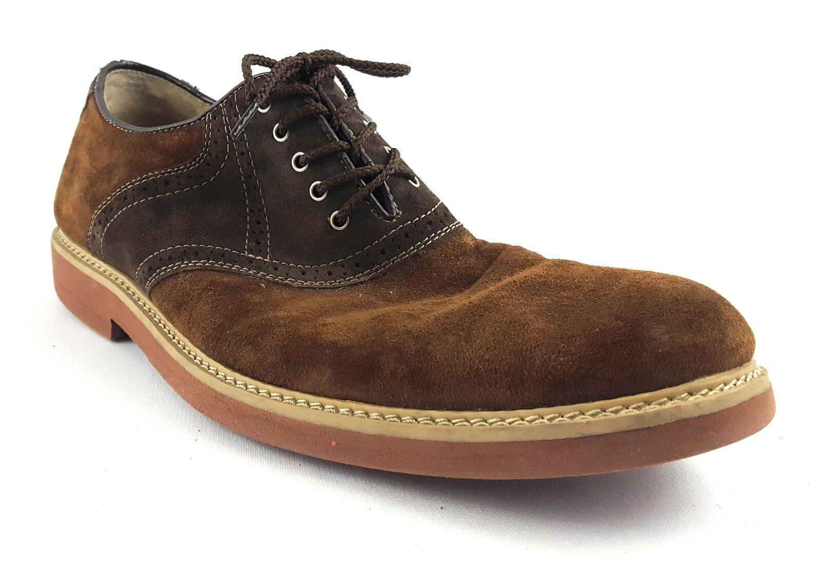 Hush Puppies 1958 Brown Suede Leather Oxford Mens Size 10.5 M