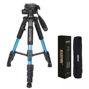 ZOMEI-Q111-55-034-Professional-Aluminum-Alloy-Camera-Tripod-for-DSLR-Camera-Blue
