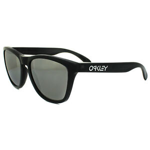 33155284c83 Image is loading Oakley-Sunglasses-Frogskins-OO9013-10-Black-Ink-Chrome-