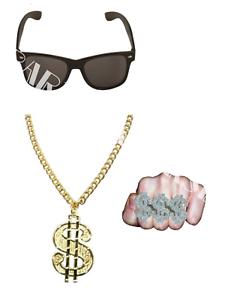 Men/'s Gangster Rapper Hip Hop Ali G RUN DMC Stag Night Fancy Dress Acessories