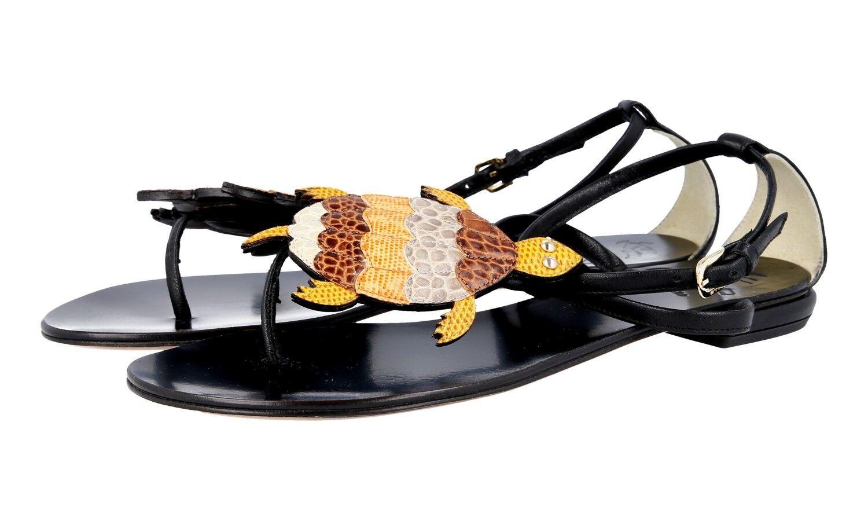 LUSSO ETRO Sandalo PITONE Scarpe Scarpe Scarpe Con VERA PELLE PITONE Sandalo NUOVO   3568dc