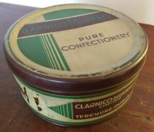 Collectable-Large-Rare-Vintage-c1960-039-s-Clarnico-Murray-of-Dublin-Toffee-Tin