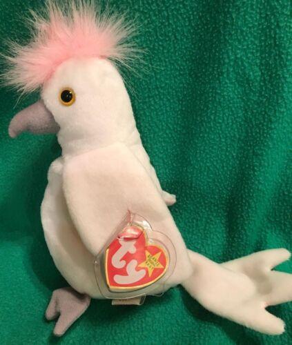 d34cd8d4f4d ... TY Beanie Baby KuKu the White Cockatoo Bird MWMT 1997 7
