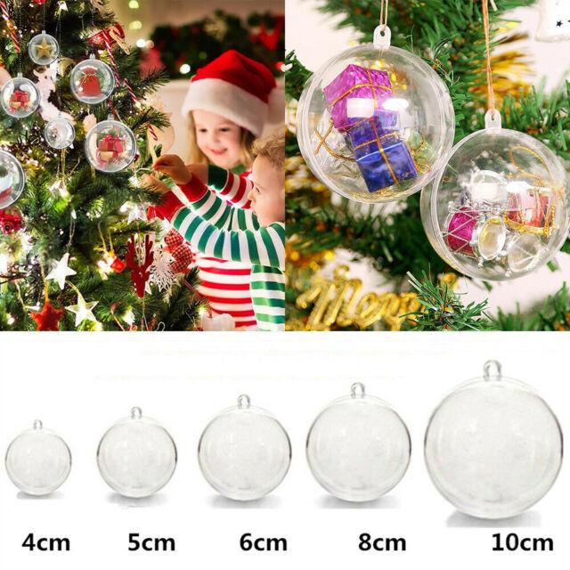 Clear Plastic Baubles 100 X 5cm Clear Plastic Craft Baubles-Christmas Baubles