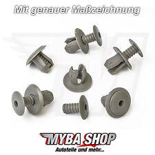 10x TÜRVERKLEIDUNG CLIPS KLIPS VW TRANSPORTER T4 & T5 DUNKELGRAU 70186729901C