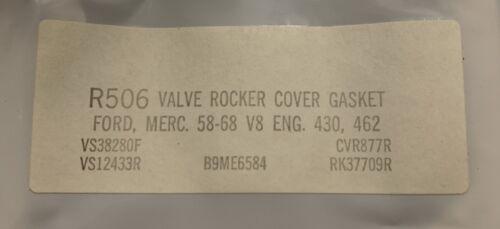 462 Valve Cover Gasket Cork NOS 1958-68 Ford// Mercury V8 430
