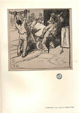 1902 STUDIO PRINT ~ QUARRYMEN by ROBERT STERL