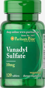 Puritan-039-s-Pride-Vanadyl-Sulfate-10-mg-120-Tablets-free-shipping