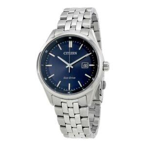 Citizen-Eco-Drive-Cadran-Bleu-Acier-Inoxydable-Homme-Montre-BM7251-53L
