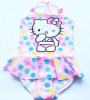 Badeanzug Gr.110 /116 H&M NEU Hello Kitty rosa pink Punkte kinder sommer ssv