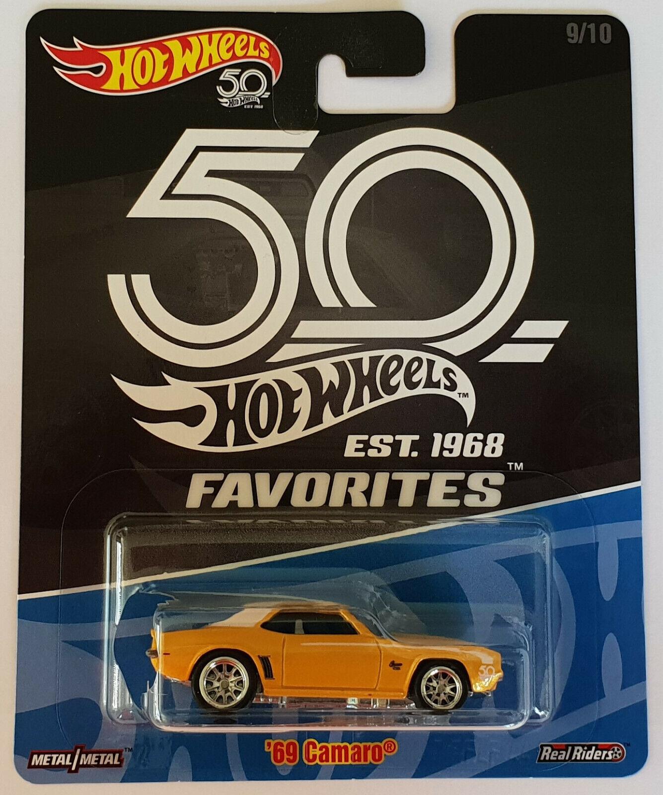 Hot Wheels 2018 50th Anniversary favorites' 69 Camaro flf44
