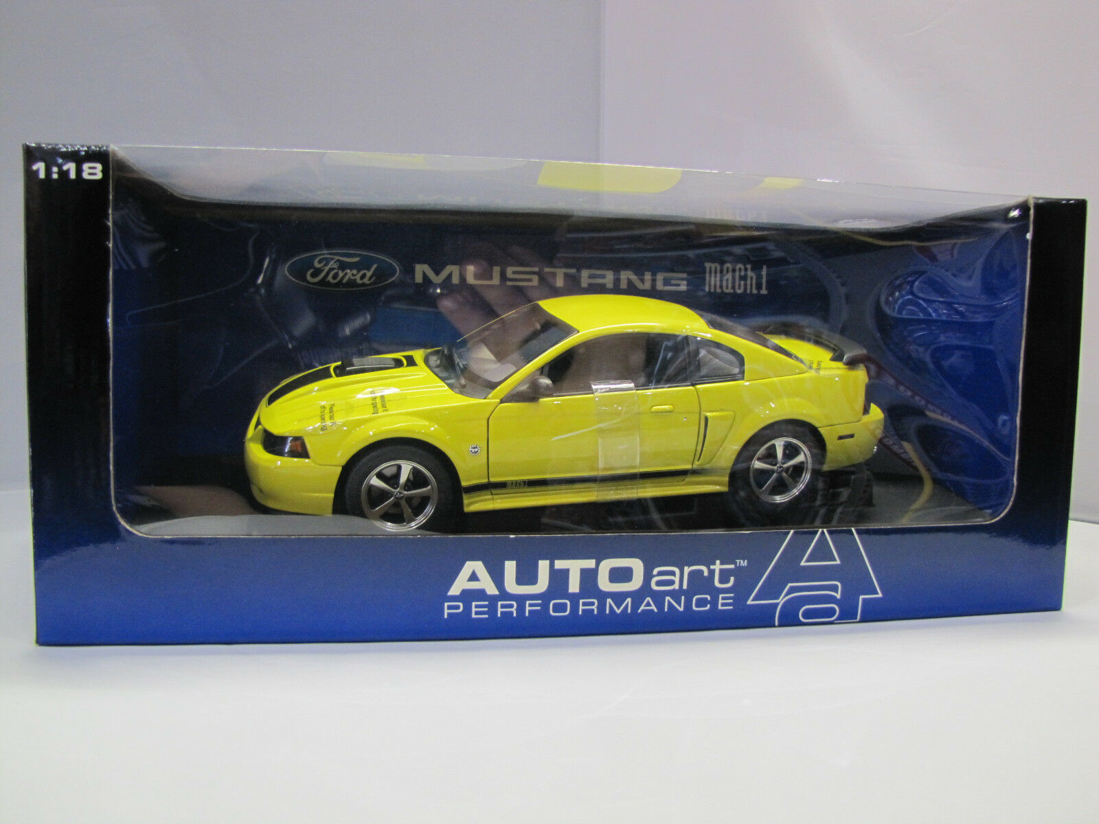 73006 Autoart Ford Mustang Mach 1 - 40th Anniversary 2004 Screaming giallo 1 18