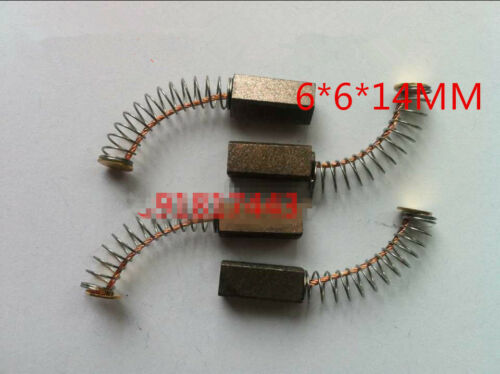 "10 Pcs 35//64/""x15//64/""x15//64/"" Carbon Brushes Generic Electric Motor 14x6x6mm"