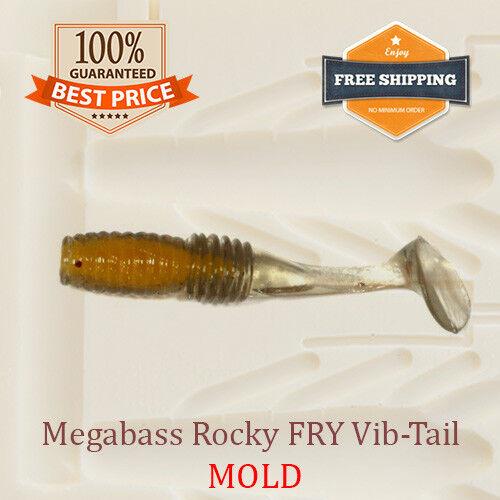 Rocky FRY Vib-Tail Shad Fishing Mold Lure Bait Soft Plastic 38 mm