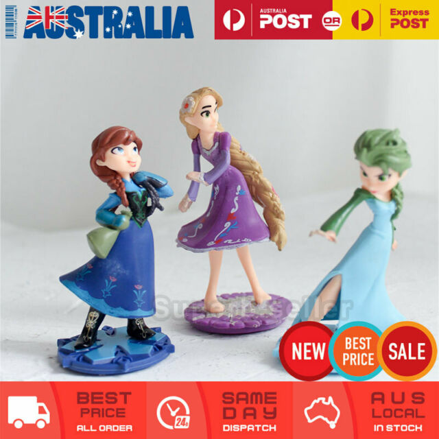 5d0ff338917e8 3x Frozen Princess Anna Elsa Rapunzel Cake Topper Disney Fairy Figure  Figurine