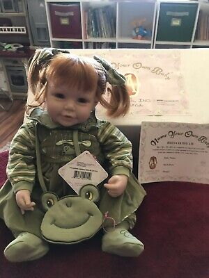 "Weighted 20/"" Adora Wizard Of Oz Scarecrow Baby Doll New In Box Certificate Hat"