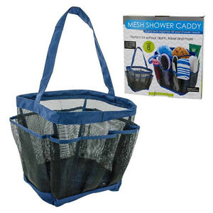 Details About Shower Caddy Mesh 8 Pocket Organizer Portable Tote Bag Carry Sports Travel Gym