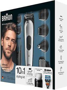 Braun MGK7020 10 En 1 Recortadora Barba y Cortapelos con Afeitadora Cuerpo