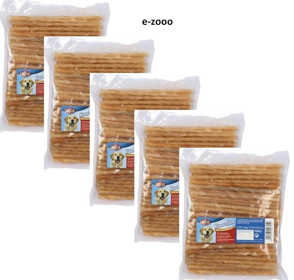 5er Pack Trixie Rollo de Masticar Girado, 12cm   Ø 7 – 8 mm, 5 X 500G
