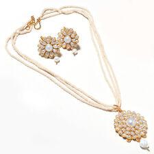 Pearl pacchi handmade hyderabad kundan jadau real look cheapest locket set 5118
