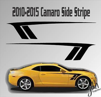 2010-2015 Chevy Camaro Strobe Fender Racing Stripe Rocker Vinyl Decal Graphic