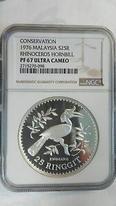 Malaysia-25-Ringgit-Silver-Conservation-Wildlife-1976-NGC-PF-67-Ultra-Cameo